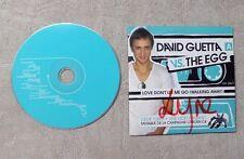 "CD AUDIO / DAVID GUETTA VS THE EGG ""LOVE DON'T LET ME GO (WALKING AWAY)"" 2T CDS"