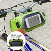 Bike Handlebar Bag Bicycle Front Touch Screen Phone Holder Cycling Crossbody Bag