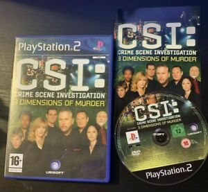 CSI: Crime Scene Investigation - 3 Dimensions Of Murder PS2 With Manual PAL