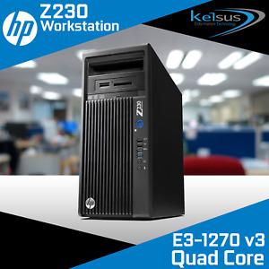 HP Z230 Workstation E3-1270 v3 3.50GHz 16GB RAM 1TB HDD Quadro Windows 10 Pro