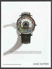 LOUIS VUITTON watch - 2014 Print Ad (not real product)