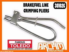 TOLEDO 301026 - BRAKE/FUEL LINE CRIMPING PLIERS - 4 PC SET - RESTRICT FLOW FLUID