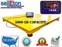 "NEW SellEton Industrial 48"" x 48"" 4' x 4' Floor scale pallet  5000 lbs Capacity"