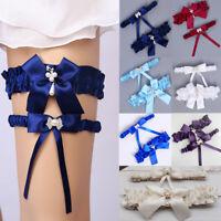 2pcs/Set Lingerie Women Floral Leg Ring Garter Belt Bride Wedding Lace Suspender