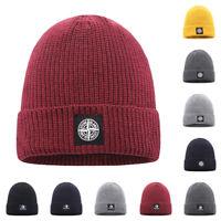 Men's Stone Island Knitted Hats Beanies Warm Baggy Fur Wool Skulls Bonnet Caps