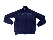 Mens Clothing Puma Track Jacket UK M Rrp £45 Black White Cotton Mix Top @