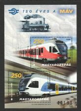 HUNGARY 2018 150 YEARS TRAIN RAILWAY SOUVENIR SHEET OF 2 STAMPS MINT MNH UNUSED