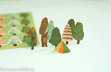 Norwegian Wood Stickers kawaii cartoon diary craft scrapbook Tree Bear stickers