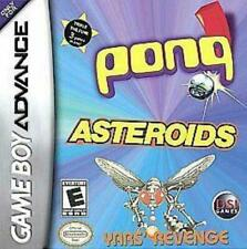 Pong/Asteriods/Yars' Revenge Game Boy Advance Game Used Complete