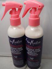 Shea Moisture Silicone Free Miracle Styler Leave-In Treatment, 8.OZ ea (2pks)
