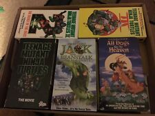 Lot of 48 VHS CHildrens/Kids Movies Teenage Ninja Turtles Ricky & Bullwinkle VG