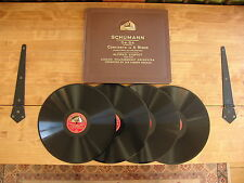 "BOOK SET 4 12"" 78s HMV D.B.2181-4 Schumann ""Concerto in A minor Op.54"" A. Cortot"