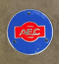AEC BUS TRUCK LORRY COMMERCIAL TRANSPORT HUB DISK BADGE EMBLEM