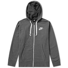 GENUINE NIKE HERITAGE MENS FULL ZIP HOODY HOODIE SIZE S SMALL BNWT GREY BLACK