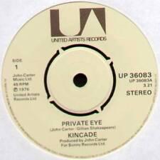 "[JOHN CARTER] KINCADE ~ PRIVATE EYE / REASON & RHYMES ~ 1976 UK 7"" SINGLE"