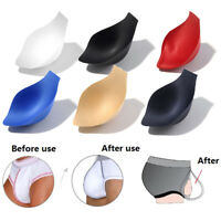 Men Enlarge Bulge push up cup pad pouch swimwear briefs Underwear protectBLUS