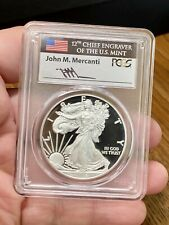 2016-W $1 Silver Eagle PCGS PR70 FS Lettered Edge Mercanti Signature 30th Ann