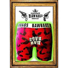 Bawbags Boxer Shorts-cockrel-Rojo-Pequeño boxershorts/pants