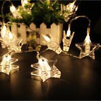 20 LED estrella cadena de la lámpara guirnalda luces star Wedding Xmas Party 12m