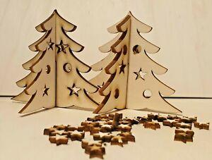 Mini Holz Weihnachtsbaum zum Stecken 10x8cm Weihnachten Deko Kundengeschenke