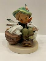 "Hummel Goebel  Figurine Playmates Boy with Rabbits Hummel 58/0 Marked ""W Germany"