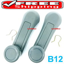 2 GRAY WINDOW HANDLE CRANK  FIT ISUZU TF TFR TROOPER Vauxhall Brava Holden Rodeo