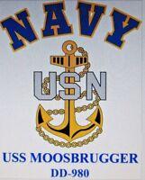 USS MOOSBRUGGER  DD-980* DESTROYER * U.S NAVY W/ ANCHOR* SHIRT
