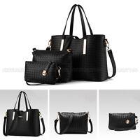 Women Leather Handbag Shoulder Bag Tote Purse Messenger Crossbody Satchel 3pcs