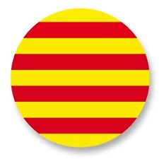 Pin Button Badge Ø38mm Drapeau Flag Catalogne Catalunya Cataluña Catalan