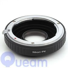 Optic Nikon F Lens to Pentax K Camera Adapter K-m K-x K-7 K-r K-5 K-20D K-10D Kr