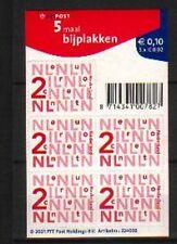Nederland Nikkels V2034a, 5 x 2 cent  zelfklevend - Lastig vel Cat waarde € 2,50