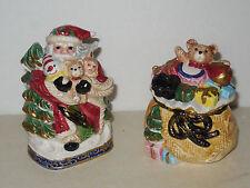 Fitz & Floyd Omnibus Christmas Santa & Presents Salt & Pepper Shakers