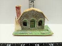 Vintage Christmas Village Decoration Mica Putz Paper Cardboard House Tree Japan