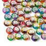 100pcs Colorful Resin European Beads Rondelle Smooth Multi-Tone Large Hole 14mm