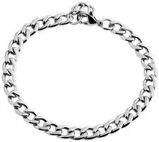 Armband aus 316L Edelstahl in Silber, Damen Armkette, schmale Panzerkette Kette
