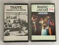 Lot of 2 TRAFFIC Cassette Tapes ~ Welcome to the Canteen, Last Exit