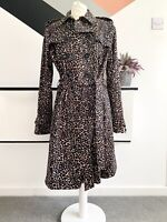 HOBBS Animal Print Trench Coat Size 16  | SMART Casual JACKET leopard