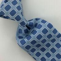 Hermes Paris Tie Woven Sky/Blue Silver Squares Necktie Luxury Silk Ties L4 New