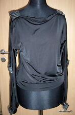 REDIAL_Shirt_Glitzer_offene Ärmel_Schwarz_Gr. 36_TOP