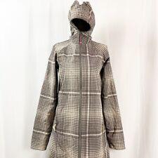 RARE Lululemon Apres Yoga Jacket Softshell Gray Plaid Zip Up Waterproof Size 4