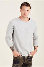 True Religion Men's Pullover Sweatshirt in Grey Marble