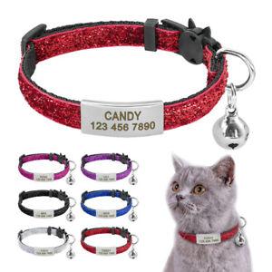 Katzenhalsband Personalisiert Hundehalsband mit Namen Sicherheitsschnalle