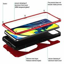 Samsung Galaxy A80 Case Aluminum Shockproof Cover Screen Protector Bumper Red