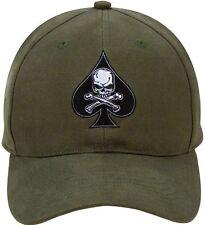 Death Spade - Olive Drab - Black Ink Design Low Profile Baseball Hat