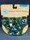 NEW The Honest Company Swim Jungle Reusable Diaper Small S 11-18 Pounds BL