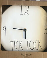 Rae Dunn Ceramic Tick Tock Wall Clock