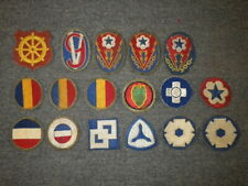Original WWII US Army Patch Lot (B) - 17 Different Patches, No Glow