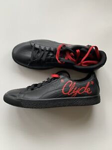 Puma Black Clyde With Red Size 10.5 US mens Shoes BNWB