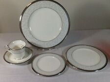 Noritake  4806  Lenore Platinum 5 Place Dinner Setting  NWT'S  Retail $150