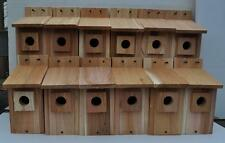 12 WESTERN BLUEBIRD BIRD HOUSES NEST..HOLE SIZE 1 9/16 ...free shipping handmade